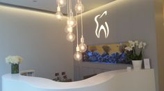 The Reception at K Dental Studios (116 Great Portland Street) www.kdentalstudios.co.uk #fishtank #dental #reception