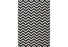 Shop for a Chevron Rush Black and Gray 8 x 10 Rug at Rooms To Go. Find Rugs that will look great in your home and complement the rest of your furniture. #iSofa #roomstogo
