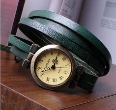 men Watch.Women wrap watch.Bracelet wrap by chadthink on Etsy, $8.70