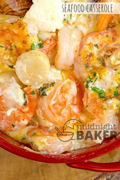 Seafood Casserole Recipes With Scallops. Seafood Pasta Bake Made With Shrimp Scallops And Crab By . Special Seafood Casserole Recipe Taste Of Home. Shrimp Casserole, Seafood Casserole Recipes, Seafood Bake, Seafood Dinner, Seafood Lasagna, Seafood Appetizers, Hamburger Casserole, Keto Casserole, Seafood Pasta