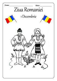 Here's Romania for kids by coloring! You will find all sorts of coloring pages suitable for kindergarten and elementary school kids. 1 Decembrie, Transylvania Romania, Spring Crafts, Coloring Pages For Kids, Elementary Schools, Flower Designs, Origami, Kindergarten, Snoopy
