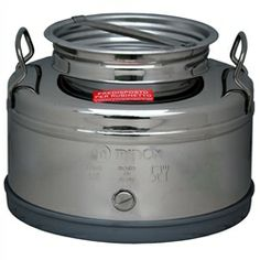 These 10 Liter fustis have a gasket and airtight screw lid and with convenient handles. A removable stainless steel spigot accurately dispenses the right amount of liquid and may be removed for easy cleaning.  Cleaning simply requires washing with kitchen detergent and rinsing with cold water. The fustis offered here are made from the finest available Italian 18/10 stainless steel under the best possible quality controlled conditions.