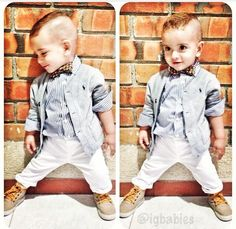 I love little boys with bowties. (That sounded wrong, but let's face it, everyone loves a well dressed baby. Little Boy Swag, Lil Boy, Little Boy Outfits, Little Boy Fashion, Toddler Boy Outfits, Young Fashion, Baby Boy Fashion, Cute Outfits For Kids, Kids Fashion