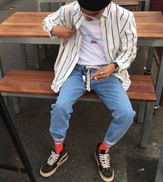 Stunning Cool Tips: Urban Fashion Casual Inspiration urban wear streetwear menswear. Look Fashion, Urban Fashion, 90s Fashion, Fashion Outfits, Fashion Trends, Vintage Fashion Men, Vintage Street Style Men, Male Hipster Fashion, Street Fashion