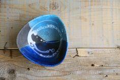 ciotola ceramica raku blu celeste di BottegaKrua su DaWanda.com