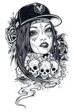 Adam Isaac Jackson Drawings Trash glamour by adam isaac – Graffiti World Art Chicano, Chicano Tattoos, Girl Tattoos, Tattos, Tatoo Art, Tattoo Drawings, Art Drawings, Chicano Drawings, Adam Isaac Jackson