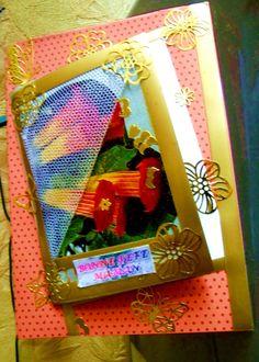 """Carte vœux Double fait main """"Bonne Fête Maman""""+enveloppe en pièce unique. : Cartes par ninita-nikolina"""