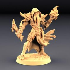 Dungeons and Dragons Wargaming Deepone King 3D Printed Resin Miniature Tabletop Role Playing Pathfinder Miniatures