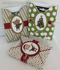 Color Me Christmas - Stamp With Amy K crayon and notecard holder tutorial for envelope punch board
