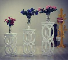 Cnc Kesim Sehpa www.cncahsap.net Cardboard Box Crafts, Cardboard Furniture, My Furniture, Wood Crafts, Diy And Crafts, Furniture Design, Flower Stands, Decorative Panels, Deco Table