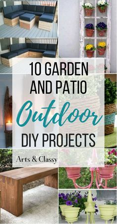 Check out these awesome and cost effective outdoor DIY projects for your yard and patio areas. I have wrangled some amazing DIY ideas from some seriously talented bloggers.