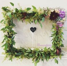 Flowerdipity Frame  #flowers #greenery #photo #frame #wedding #decoration