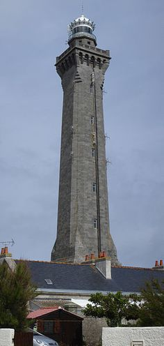 The tallest lighthouses in the world. Eckmühl lighthouse. Granite.65m. Penmarc'h. 1897. France.