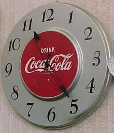 1951 Electric coca-cola clock