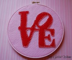 Can you feel the LOVE in the air yet? Valentines Day is right around the corner and so is hubby and my 1 year anniversary. Saint Valentine, Valentine Day Love, Vintage Valentines, Valentine Crafts, Valentine Ideas, Felt Letters, Love Days, Butterfly Art, Felt Crafts
