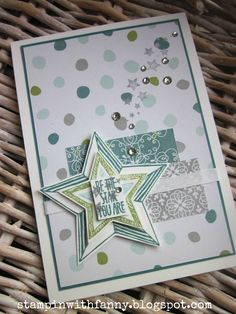 stampinwithfanny stampin up be the star you are stille nacht sterne framelits match the sketch
