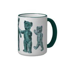 Vintage Turquoise Teddy Bears Mug