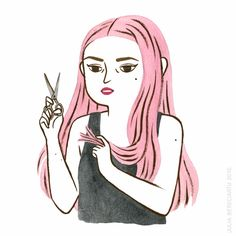 HAIR WOES - Julia Bereciartu Illustration