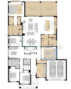Duplex Floor Plans, Home Design Floor Plans, House Floor Plans, 4 Bedroom House Plans, Family House Plans, New House Plans, Building Design, Building A House, Mcdonald Jones Homes