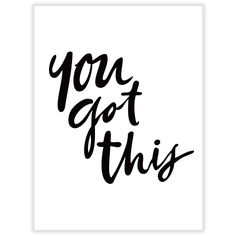 A picture paints a thousand words, but in this case words say it all. Make a bold statement with our 'You Got This' typo wall art print.  1 x ready-to-frame print.  Frame not included.  Please allow for slight colour variations from screen to print.