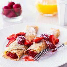 Strawberry Crepes: Turn Mother's Day breakfast into a berry yummy event with this simple recipe for the classic French pancakes.