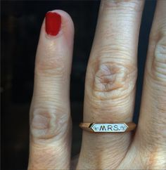 We love the MRS. ring what a fun #engagement ring from @norakogan