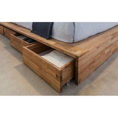 Smart under platform bed drawers on wheels