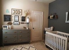 youll find that you have large quantity of extra ideas to gild your baby boy's nursery. Just start scrolling down, and look pictures of baby boy nursery ideas that you'll unquestionably love. Baby Boy Rooms, Baby Boy Nurseries, Baby Nursery Ideas For Boy, Rustic Baby Nurseries, Kids Rooms, My Bebe, Nursery Neutral, Gray Nursery Boy, Gender Neutral Nurseries