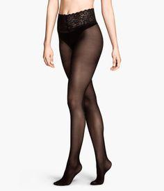 H&M Lace Waist Tights 40 denier $12.95