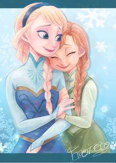 frozen elsa and anna Anna Frozen, Anna Y Elsa, Frozen Fan Art, Frozen Movie, Disney Frozen, Frozen Anime, Bolo Frozen, Frozen Stuff, Art Disney