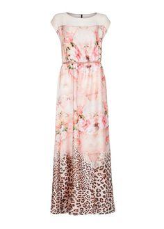 MANGO - Satin finish printed gown