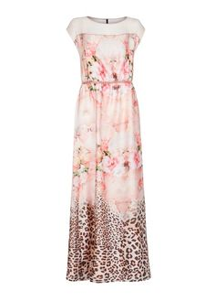 MANGO - Satin finish printed gown