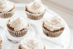 Carrot Cake Cupcakes with Creamy Maple Frosting (AIP/Paleo) - AIP Sisterhood Paleo Sweets, Paleo Dessert, Keto Desserts, Sweet Desserts, Real Food Recipes, Cake Recipes, Dessert Recipes, Dessert Ideas, Yummy Recipes