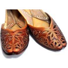 Punjabi jutti....a must for a traditional Punjabi wedding, or any festivity. :) and comfy!