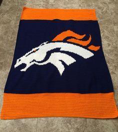 Denver Bronco crochet blanket.