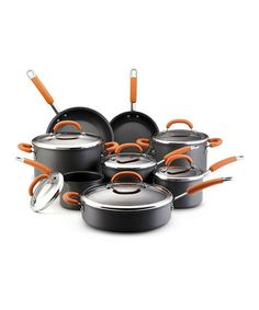 Take a look at this Gray Basic 14-Piece Cookware Set by Rachael Ray on #zulily today!