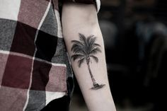 Palm tree on forearm by Turan