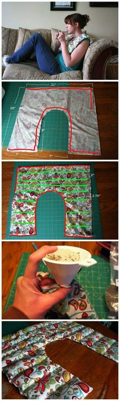 Rice Shoulder Heating Pad, with Lavender Project I NEED THIS!!! Someone crafty…