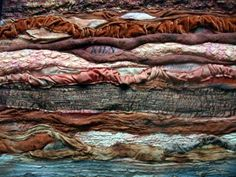 textile artist photography and mixed media - Carolyn Saxby Textile Art St Ives Cornwall Textile Texture, Textile Fiber Art, Textile Artists, Carolyn Saxby, Sculpture Textile, Fabric Journals, Art Journals, Textiles Techniques, Fabric Manipulation