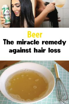 Beer - The miracle remedy against hair loss