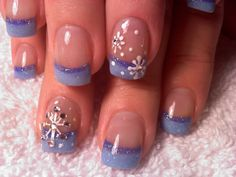 As symbols of the winter season, snowflake nail art are wonderful now and can instantly make a regular manicure look like a work of art. Take a look at these Cool Snowflake Nail Art Designs for inspiration. Snow Nails, Xmas Nails, Holiday Nails, Christmas Nails, Winter Christmas, Christmas Snowflakes, Christmas Time, French Christmas, Winter Holidays