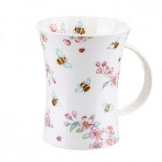 TemptationGifts.com | Secret Garden Bee Richmond shape ~Dunoon Bee Gifts, Black Coffee, Soft Furnishings, Tea Pots, Bumble Bees, Hand Painted, Shapes, Mugs, Tableware