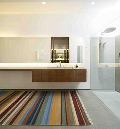 Badezimmereinrichtung Trends High Tech Badezimmer Holz Detail
