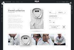 Cool web design by MILK shirts. Layout Design, Web Design, Web Layout, Graphic Design, Sell Shoes Online, Milk Shop, Website Web, Photography Website, Layout Inspiration