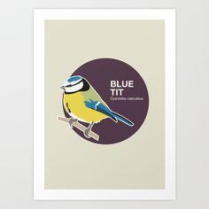 Blue tit Art Print by Francescerous - $18.00