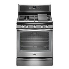 "$1170 - Whirlpool- -30"" Freestanding Gas Range w/ True Convection - Stainless Steel."
