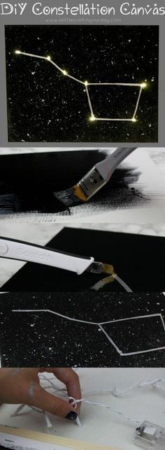 DIY Constellation Canvas