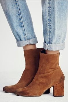Free People Cecile Ankle Boot in Tobacco