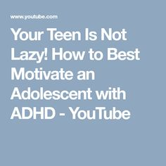 young Adult motivate