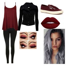 """""""Untitled #9"""" by creepymidnight on Polyvore featuring beauty, Topshop, WearAll, Superga and Lime Crime"""
